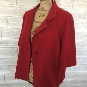 Elbow length sleeve swing jacket